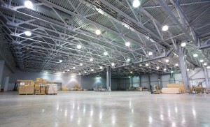 солнечный коллектор в промышленном помещении