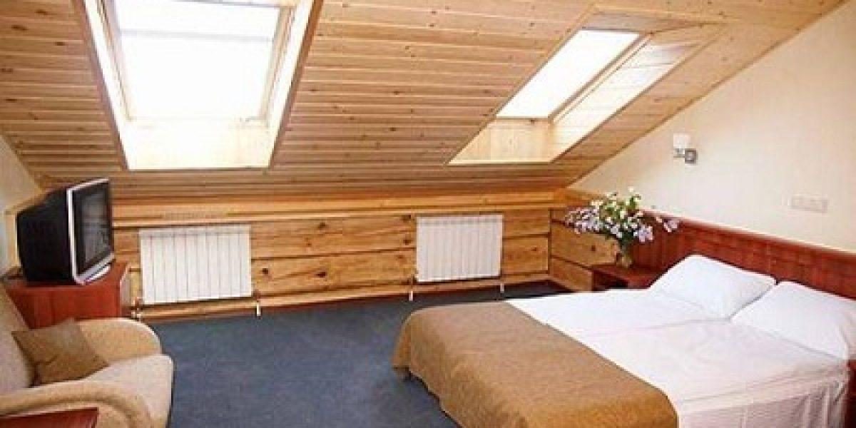 спальня на мансарде с обогревом