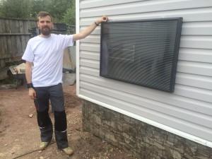Установка воздушного солнечного коллектора